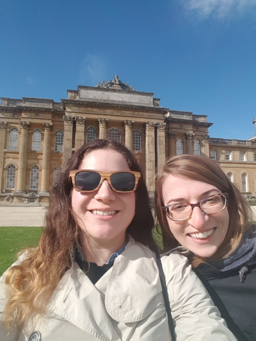 My friend and I in front of Blenheim Palace, outside of Oxford