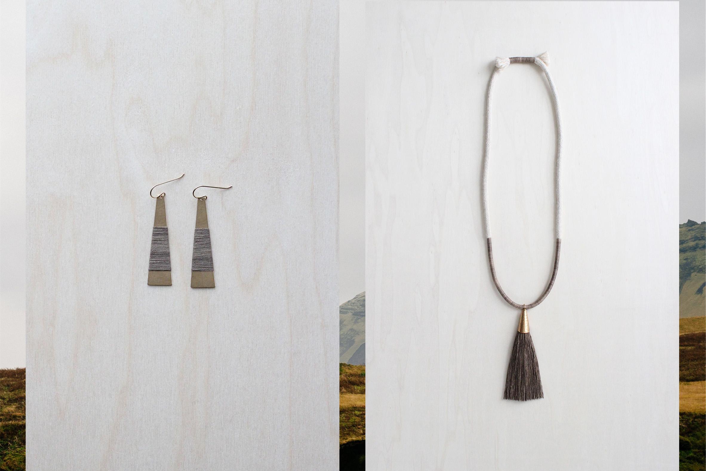 FORESTIERE wrapped earrings and demeter necklace in mossy oak.jpg