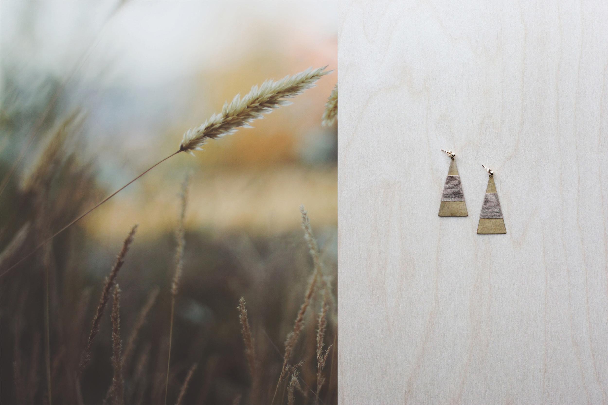FORESTIERE wrapped pyramid earrings in celado background.jpg