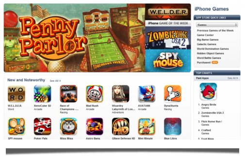 Penny Parlor was the App Store's Featured App for the first week of November 2011.