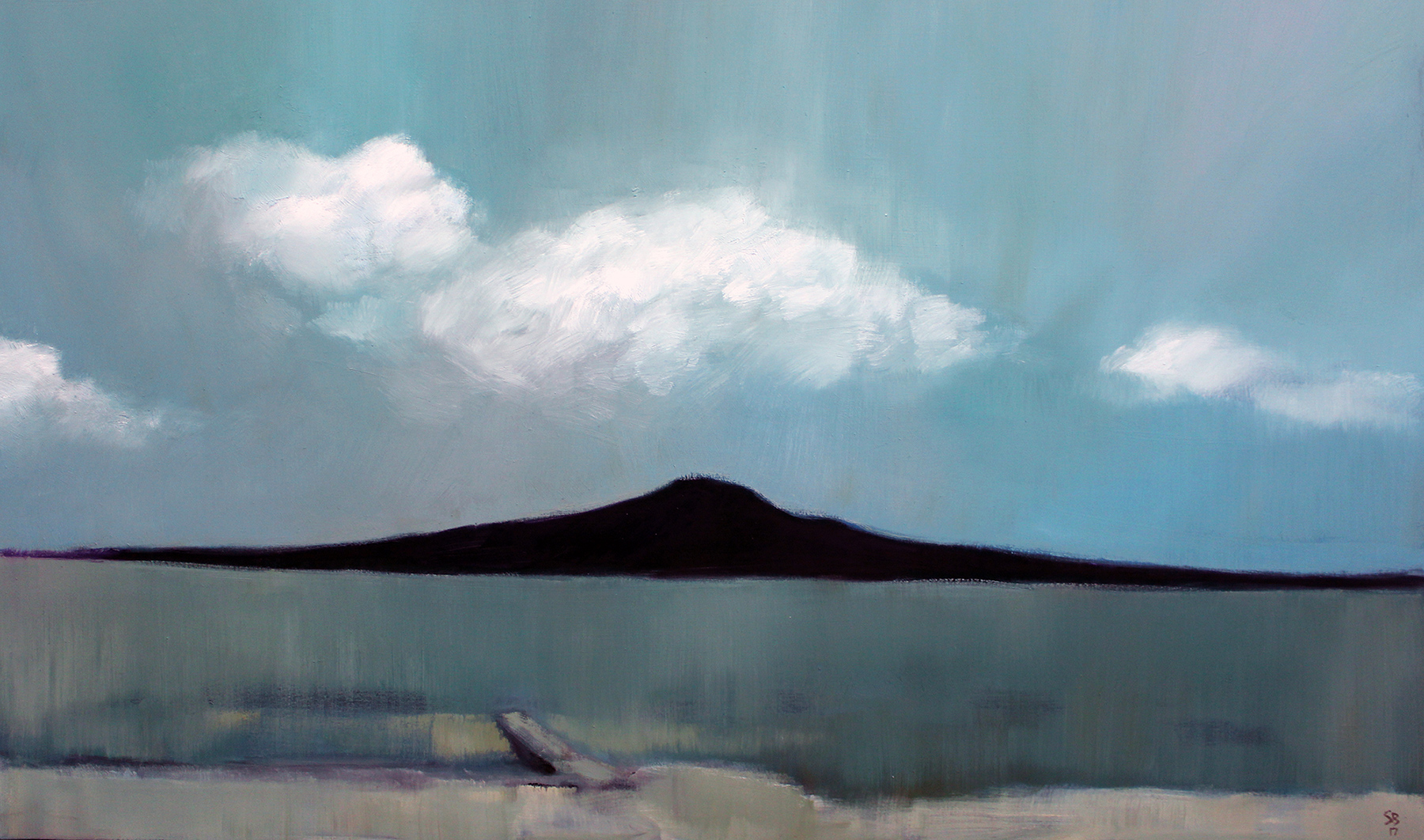Summer Rangitoto 2017 / Oil on canvas (SOLD)
