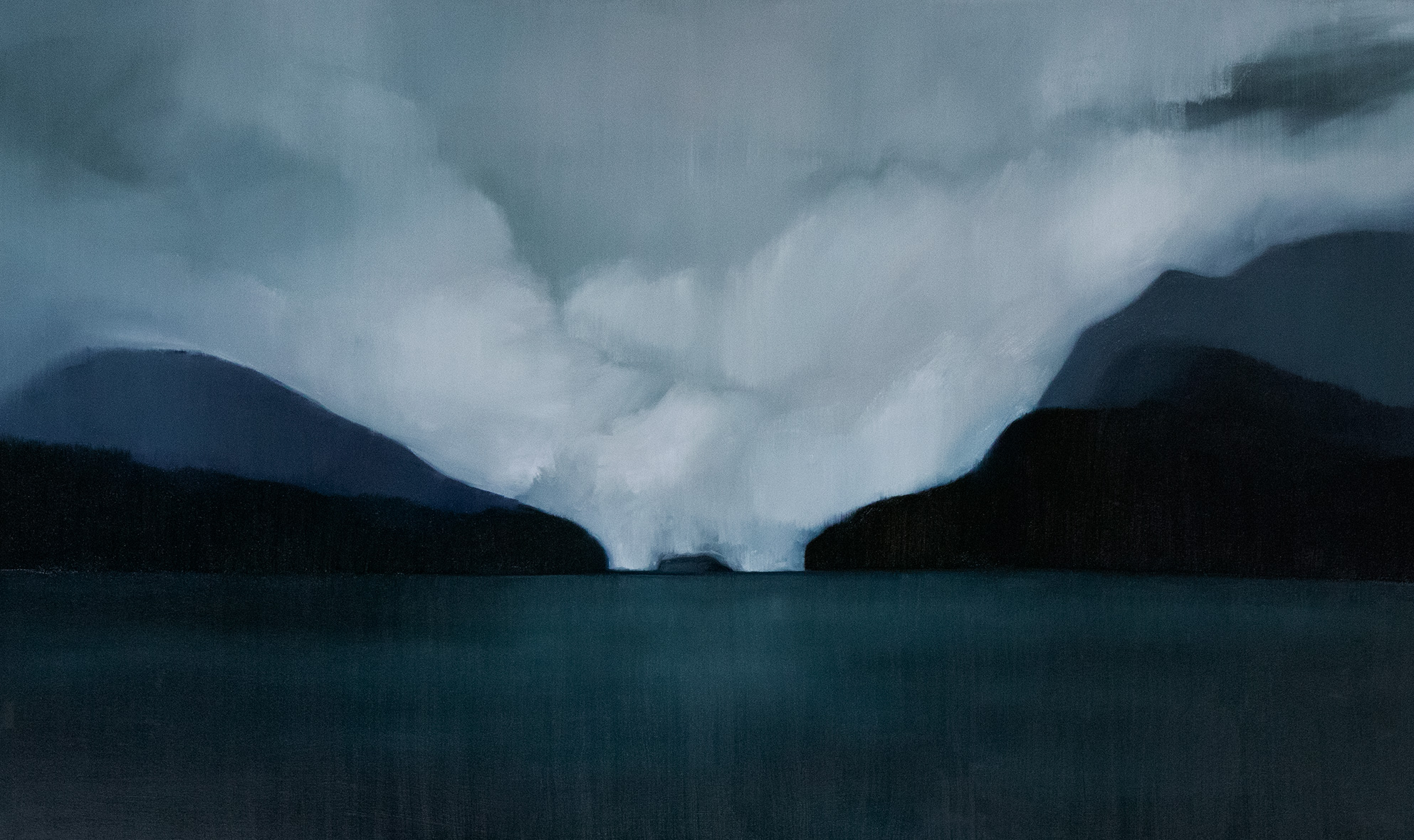 Doubtful Sound, Fiordland, 2018 / Oil on canvas (SOLD)