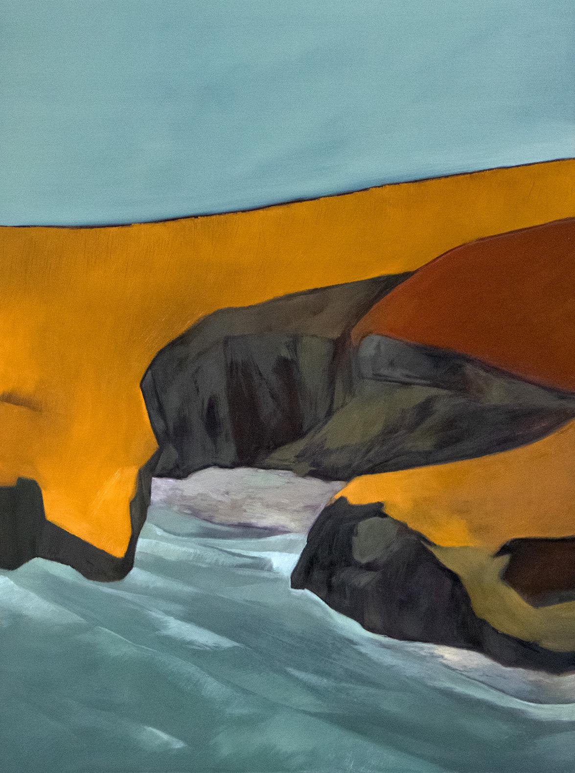 Otago peninsula, 2018 / Oil on canvas (SOLD)