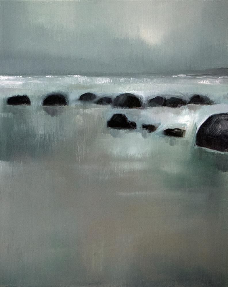 Moeraki Beach, Otago, 2019 / Oil on canvas (SOLD)