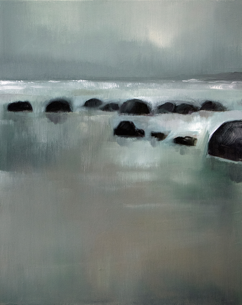 Moeraki Beach, Otago, 2019 / Oil on canvas