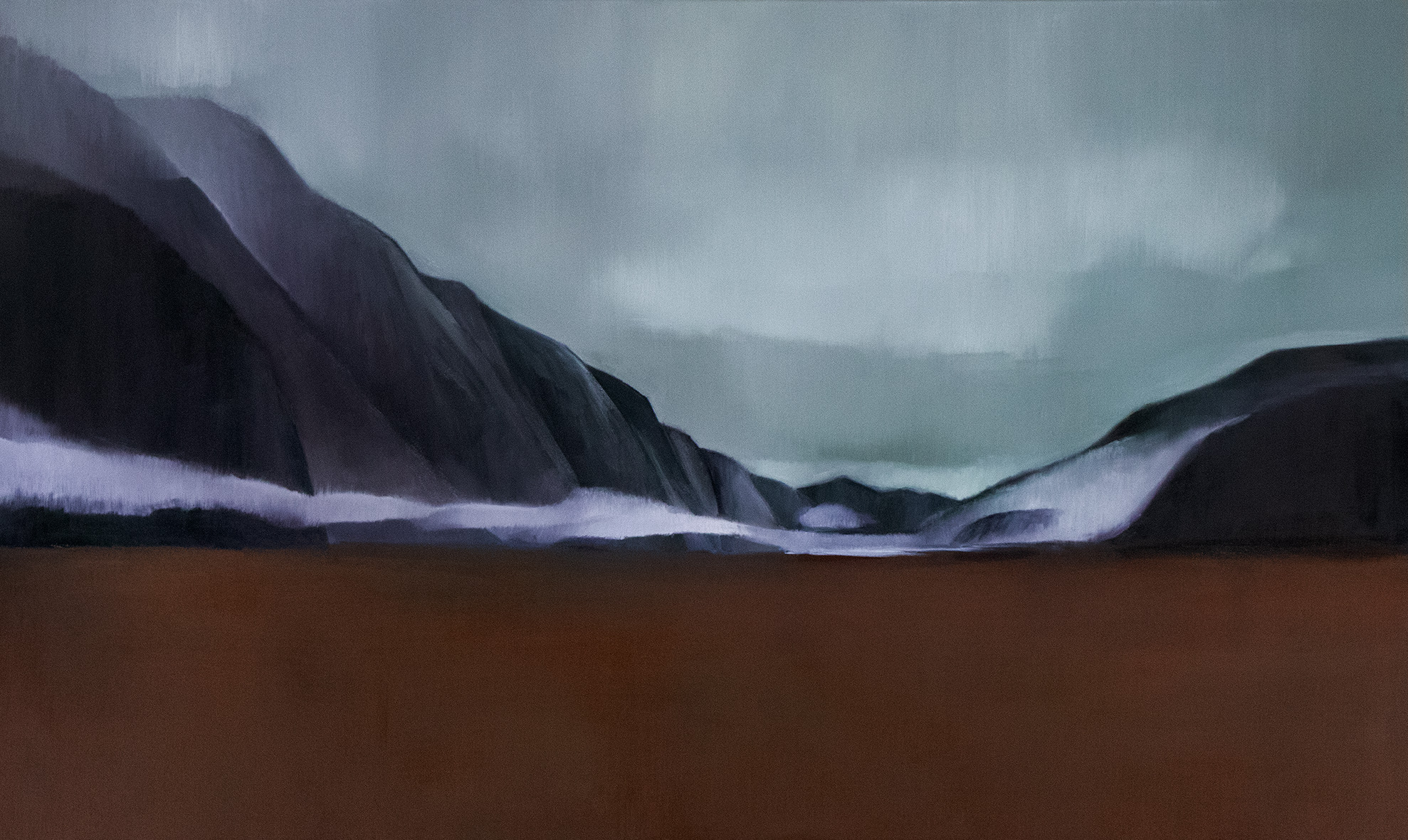 Eglington Valley, Fiordland, 2018 / Oil on canvas (SOLD)