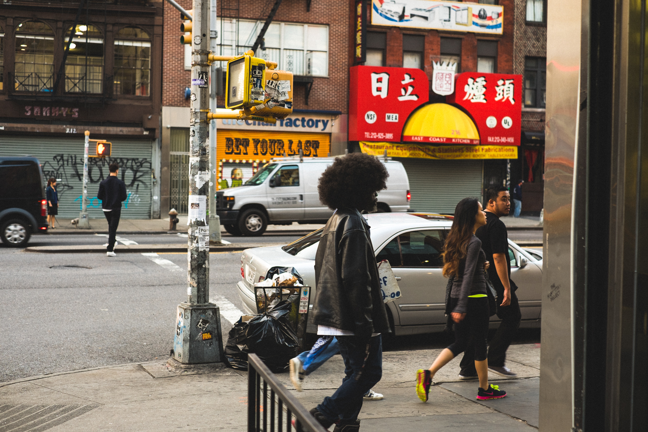 Building the courage to go ask this guy for a portrait - Bowery, 2014