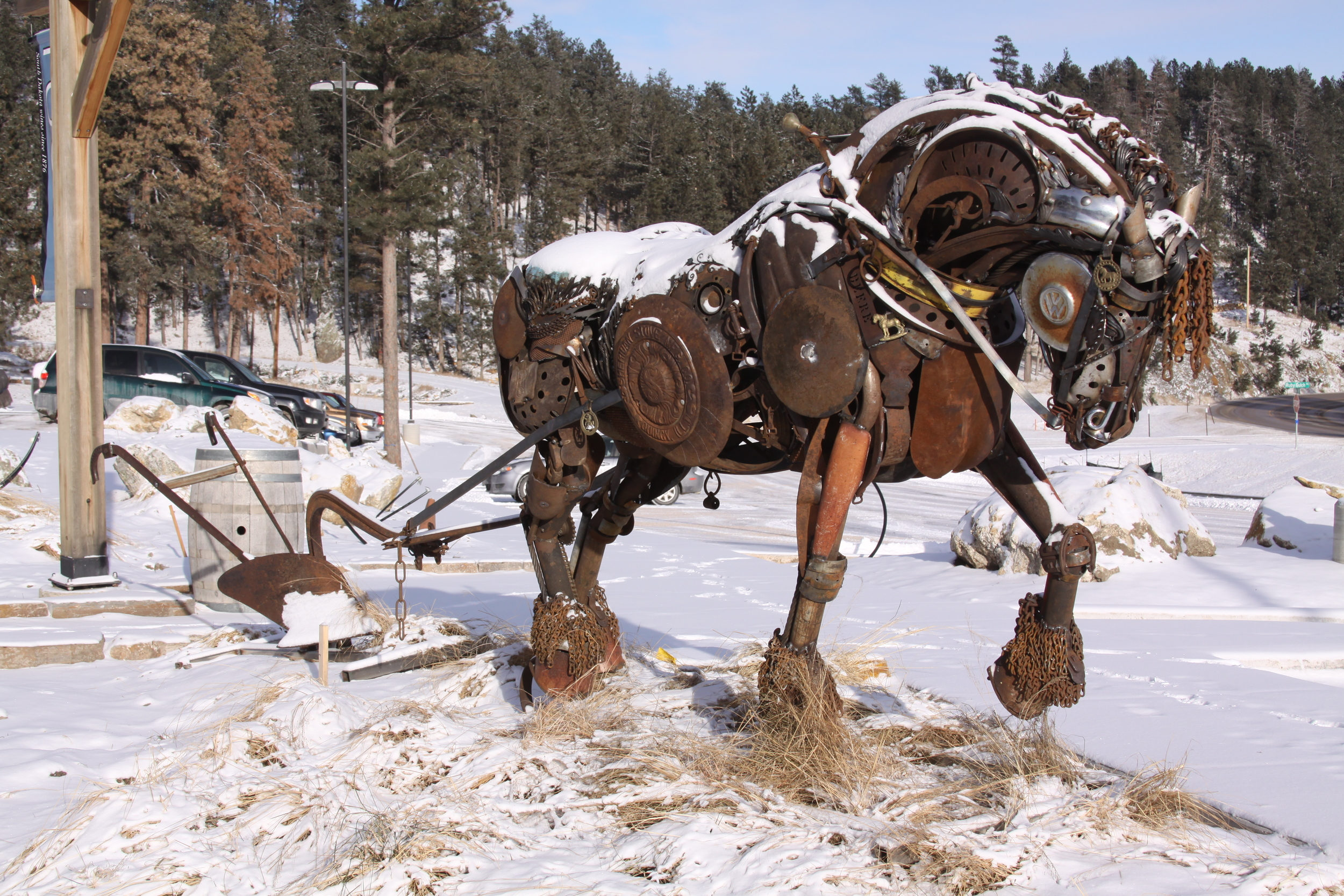 """I have another installation scheduled this spring in New Hampshire. """"Black Hawk"""" and his single bottom plow will be placed in front of a farmers market in the Kensington area."""