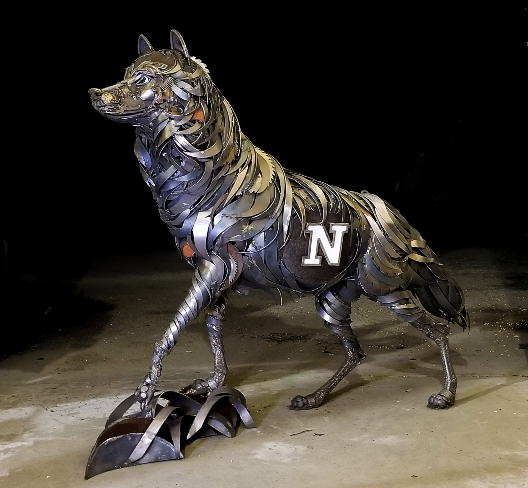 The summer of 2019 John completed a commission to create the mascot for the Northern State University Wolves in Aberdeen.
