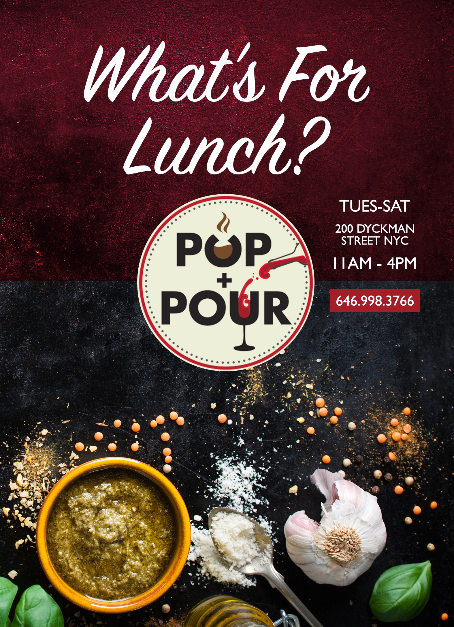 Lunch Flyer Front