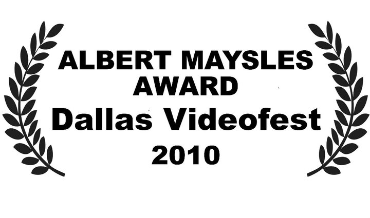 Dallas Videofest Albert Maysles Award Laurel