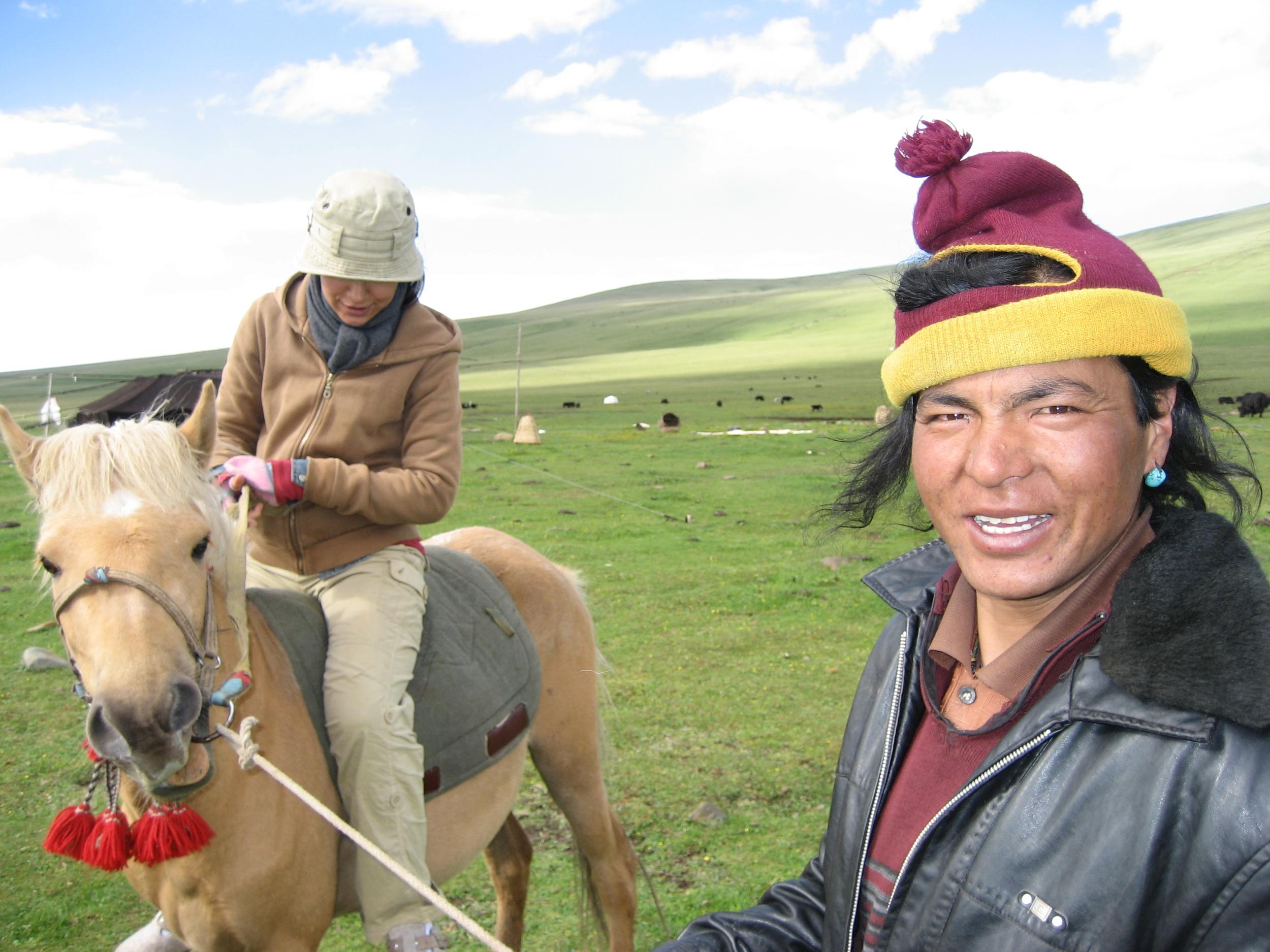 Lynn on horse with Locho