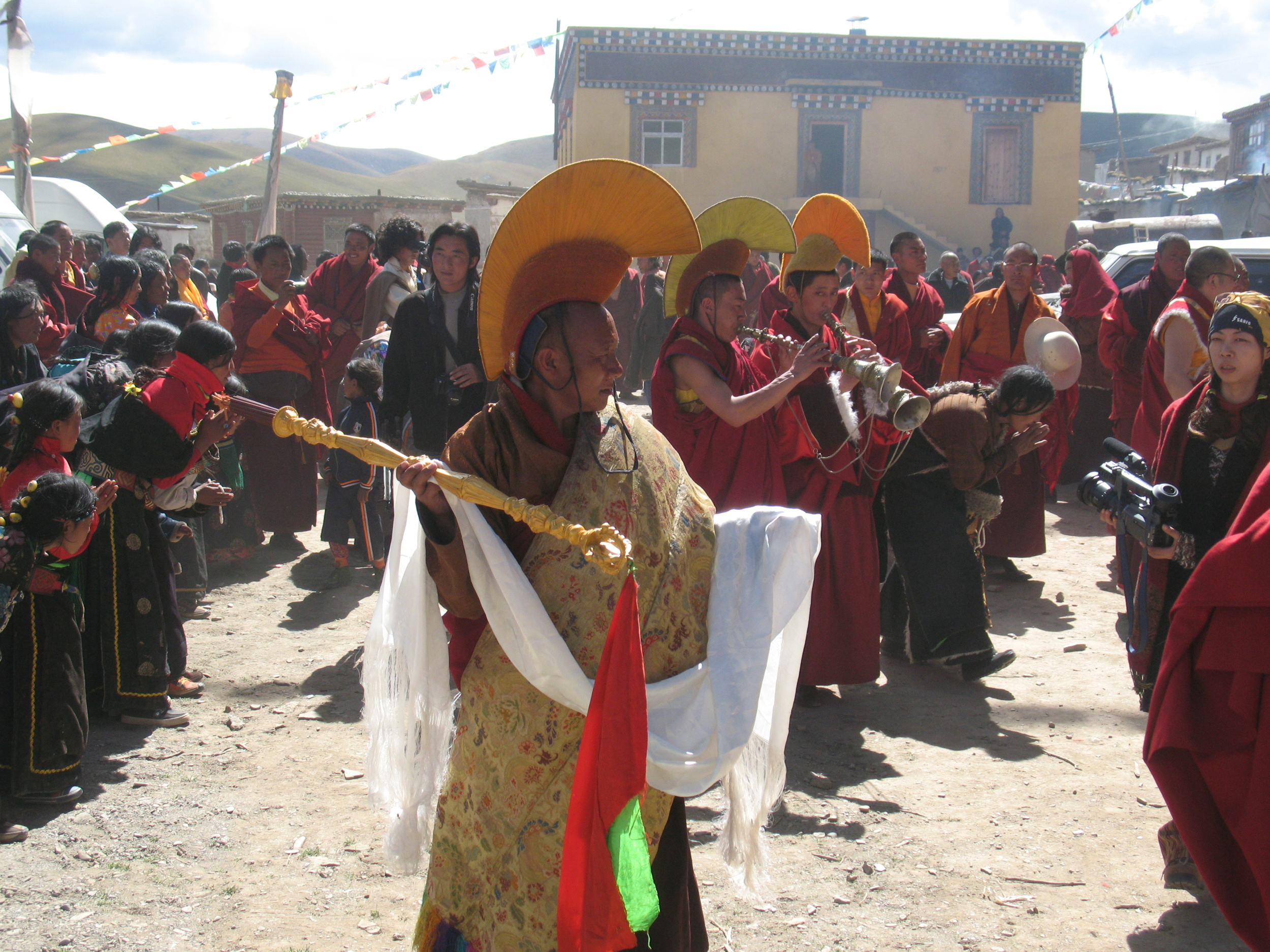Procession at Gemong Monastery