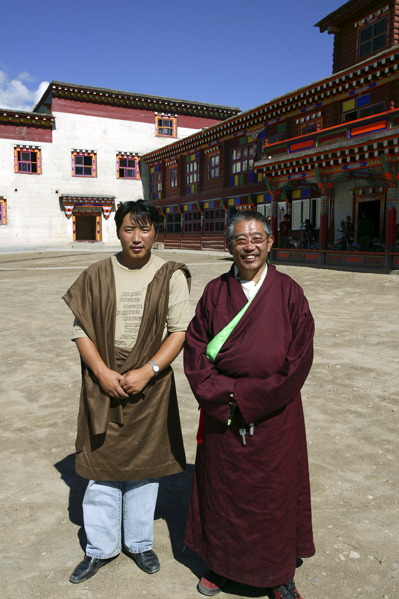 Luore Phuntsok with his son, Trabu Chime Dorje