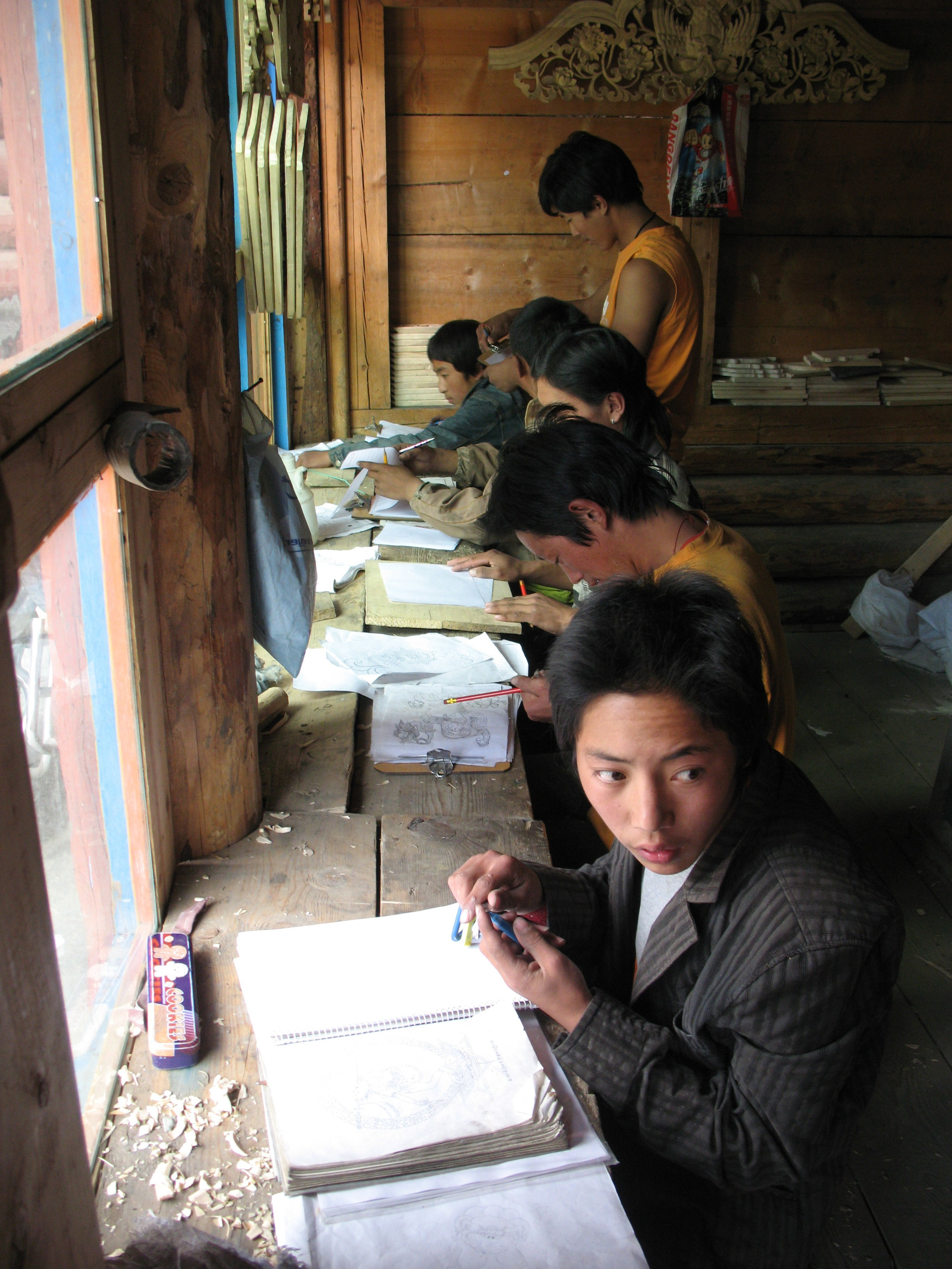 Dzongsar wood-carving school