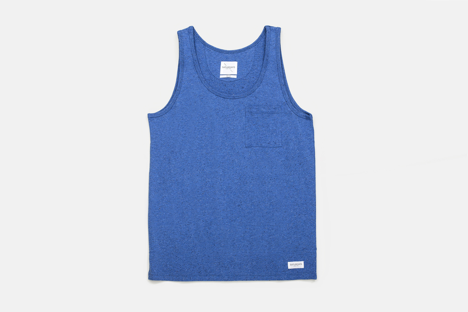 Saturdays Rosen Boucle Tank Top - Steel Blue