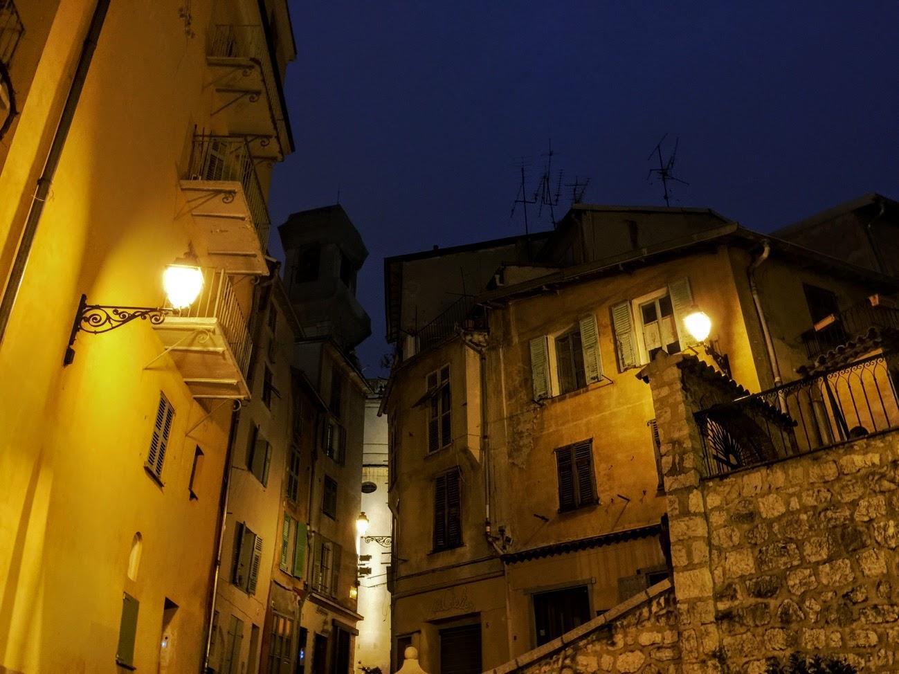First night walking through Old Town Nice