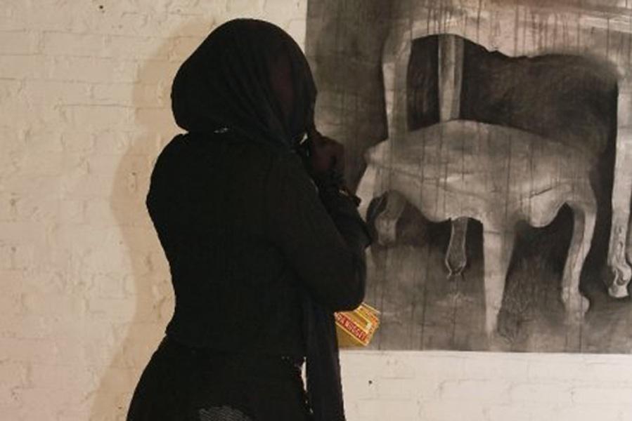 Lady in Black - Studio Clout Gallery, Atlanta, GA. 2009.
