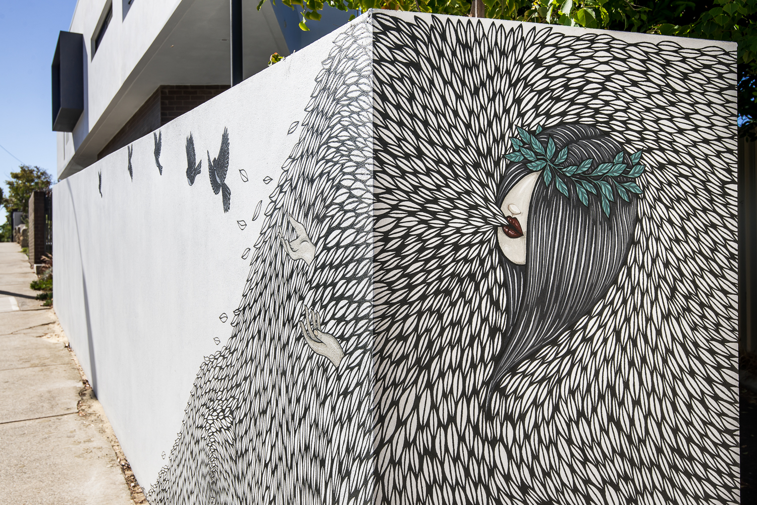 Triangle House by Robeson Architects - Street Art