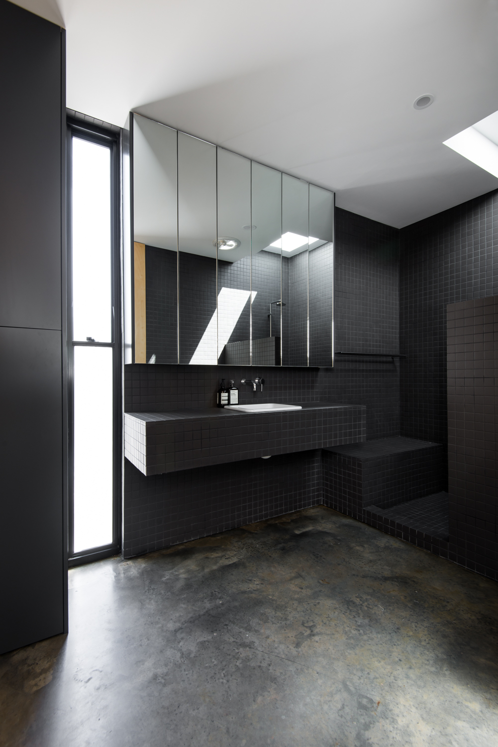 Triangle House by Robeson Architects - Back Tiled Bathroom