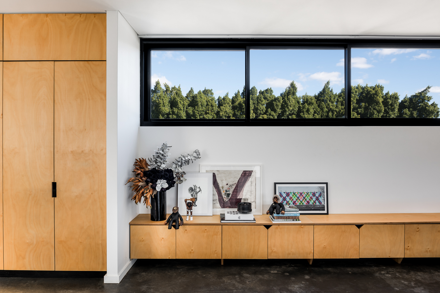 Triangle House by Robeson Architects - Plywood Details