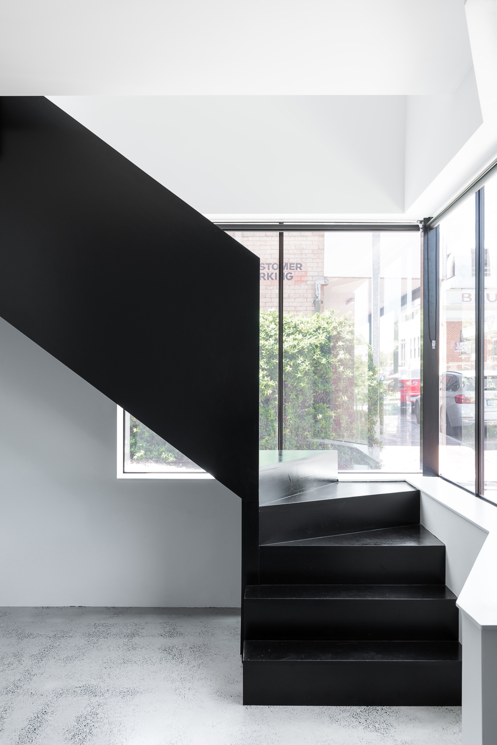 King George by Robeson Architects - Black Stained Timber Stair