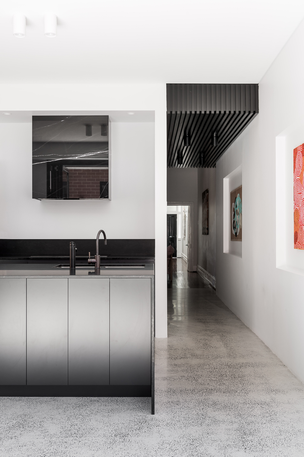 King George by Robeson Architects - Black Kitchen