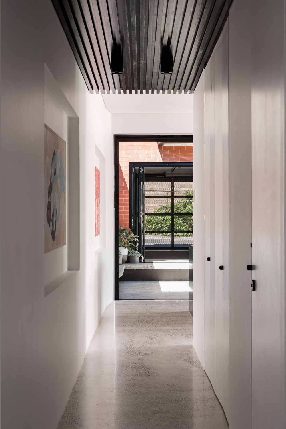 King George by Robeson Architects - Stained timber ceiling