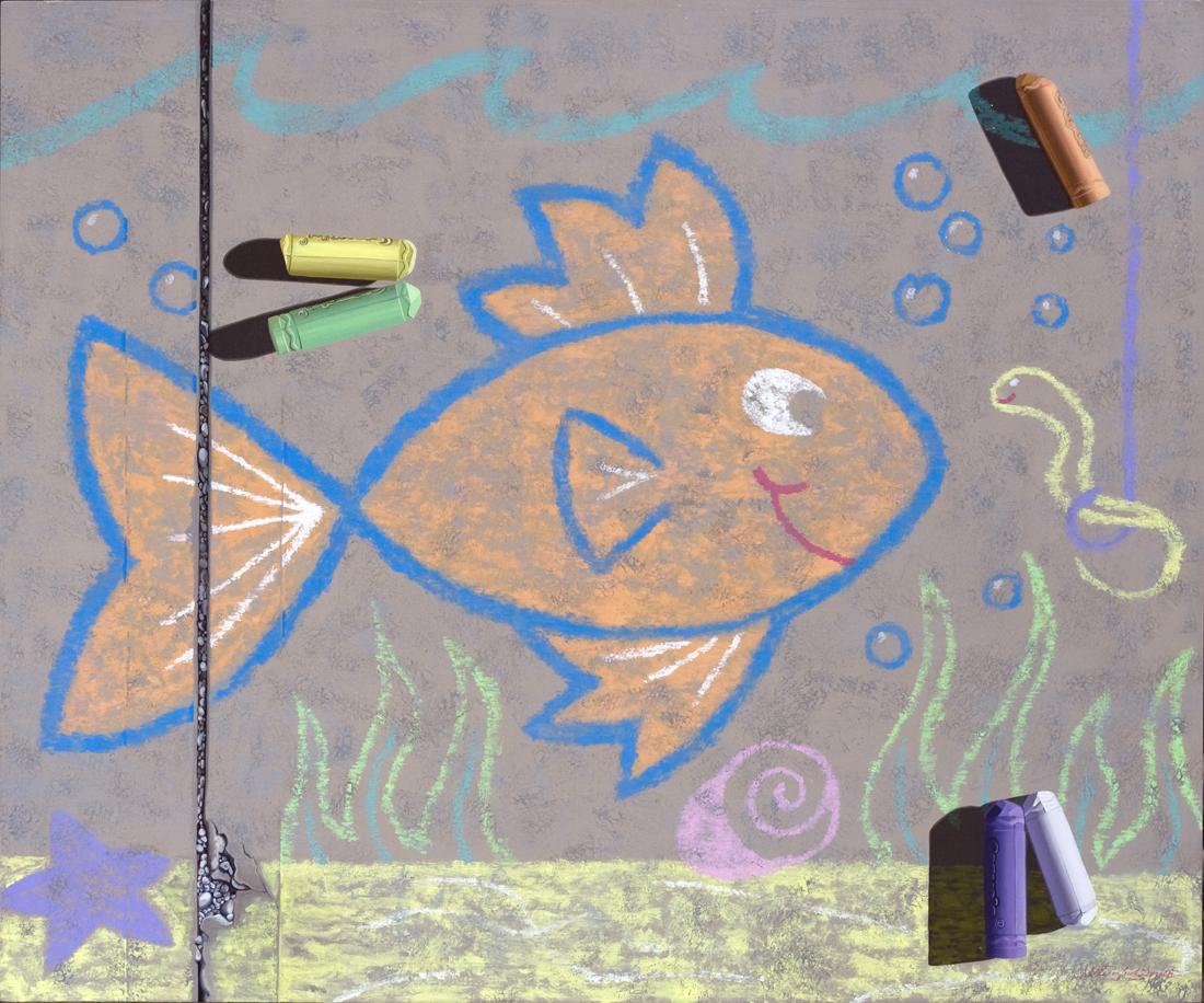 FISH | OIL ON BOARD | 40X30
