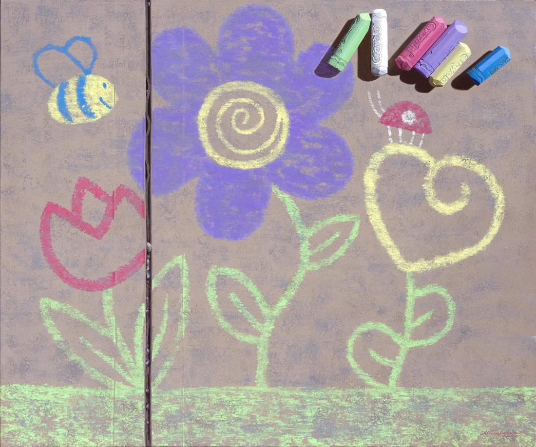 FLOWERS | OIL ON BOARD | 40X30