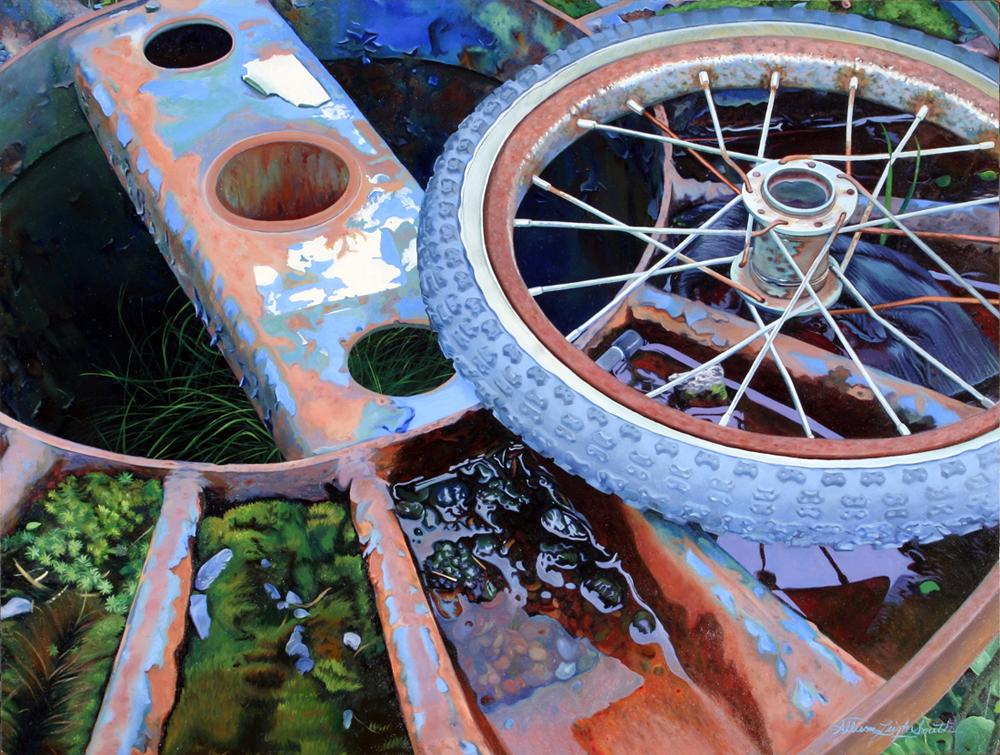 HUMAN WHEELS | OIL ON BOARD | 24X18