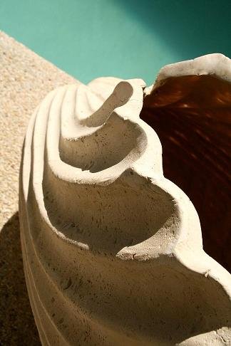 Co-Creative Studio Clam Shell Natural Stone All-Weather Planter Detail.jpg