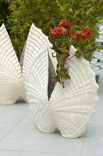 Co-Creative Studio Heart Shell Natural Stone All-Weather Planter Detail.jpg