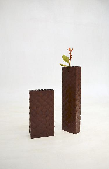 Co-Creative Studio Octa Cognac Leather Trimming Home Accessories Floor Vases.jpg