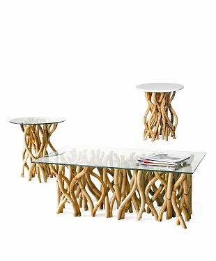 Co-Creative Studio, Detalia Aurora Gaia Natural Rattan End Table, Center Table.jpg