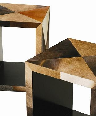 Co-Creative Studio, Detalia Aurora Kube Cow Hide End Tables Detail.JPG