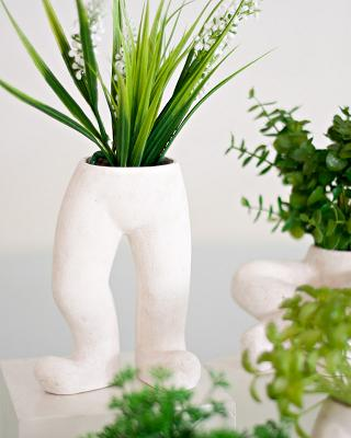 Co-Creative Studio Levi Natural Stone All-Weather Fun Planters Standing.jpg