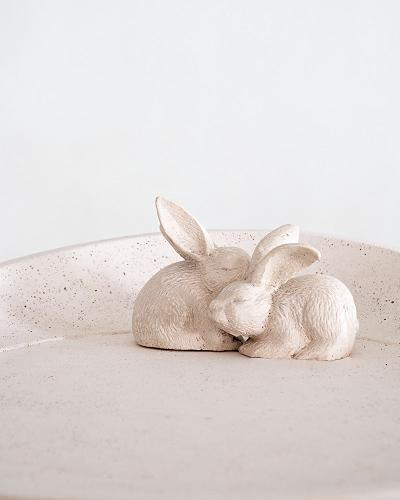Co-Creative Studio Burrowing Bunnies Natural Stone All-Weather Tray Table Close Up.jpg