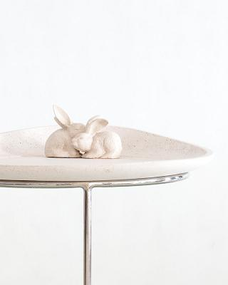 Co-Creative Studio Burrowing Bunnies Natural Stone All-Weather Tray Table Detail.jpg