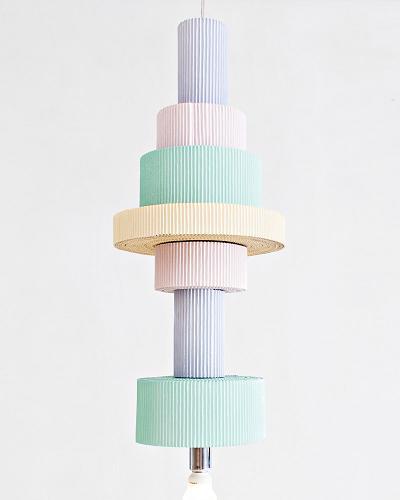 Co-Creative Studio Antoinette Kraft Paper Beads Pendant Hanging Lamps Multi Cylinder Details.jpg