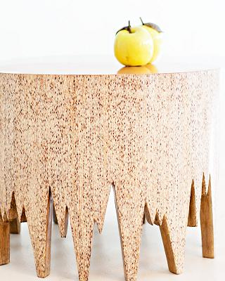 Co-Creative Studio Ent Laminated Turnsole with Golden Pearl Tops Occasstional Tables Detail 1.jpg
