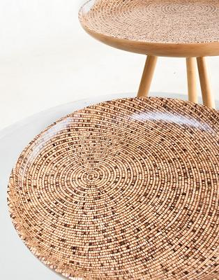 Co-Creative Studio, Detalia Aurora Trivet laminated Coconut Tray Table Detail.jpg
