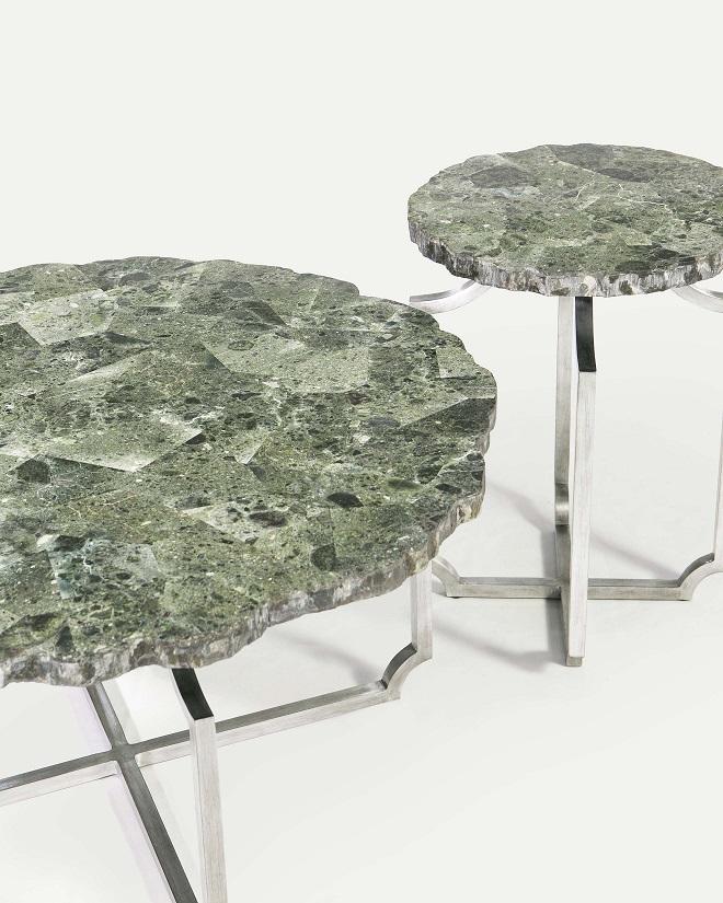 Co-Creative Studio, Detalia Aurora,Quarrie Tables, Green Wax Stone Lamination A.jpg
