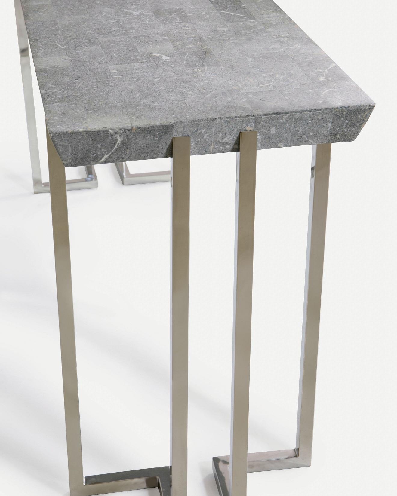 Co-Creative Studio, Detalia Aurora, Ercole Tables, Gray Stone Lamination, Stainless Steel B.jpg