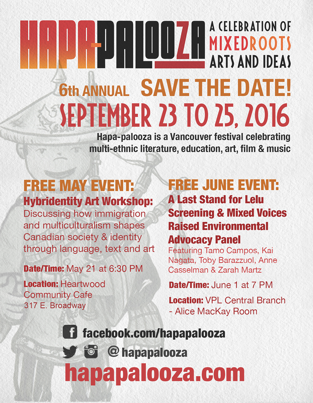 Hapa-palooza 2016 Save the Date