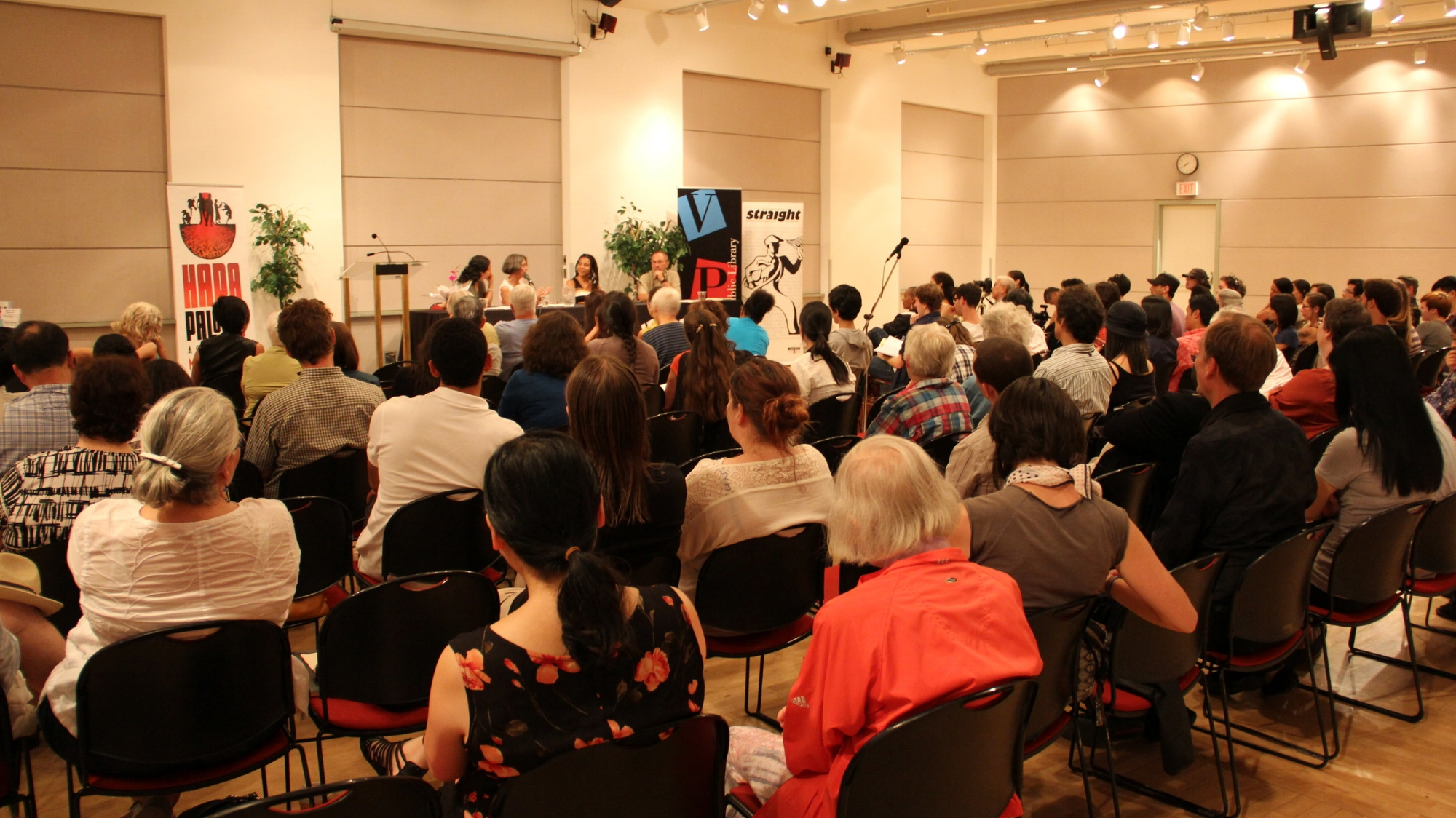 Poets Joanne Arnott, Fred Wah and Joanne Arnott in conversation with Anna Ling Kaye at the inaugural Mixed Voices Raised in 2011