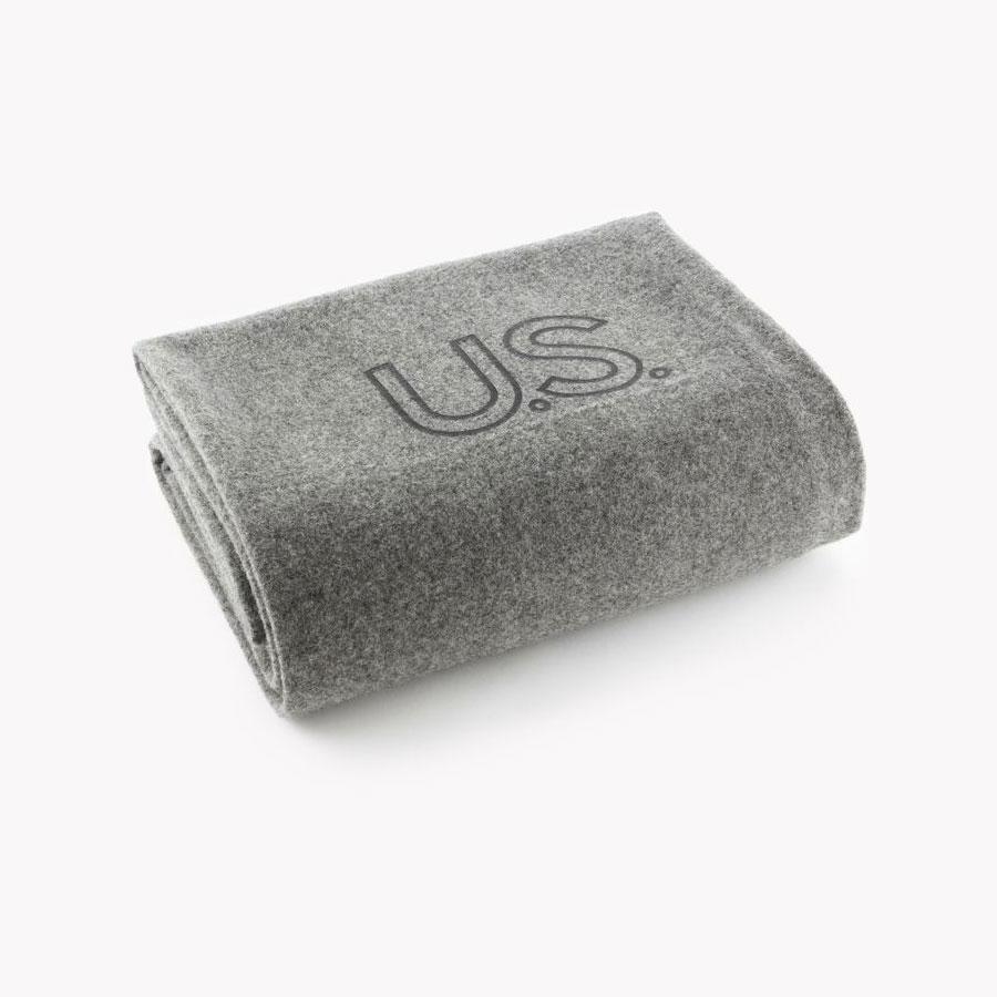 Faribault Foot Soldier Military Wool Blanket - US Navy Gray