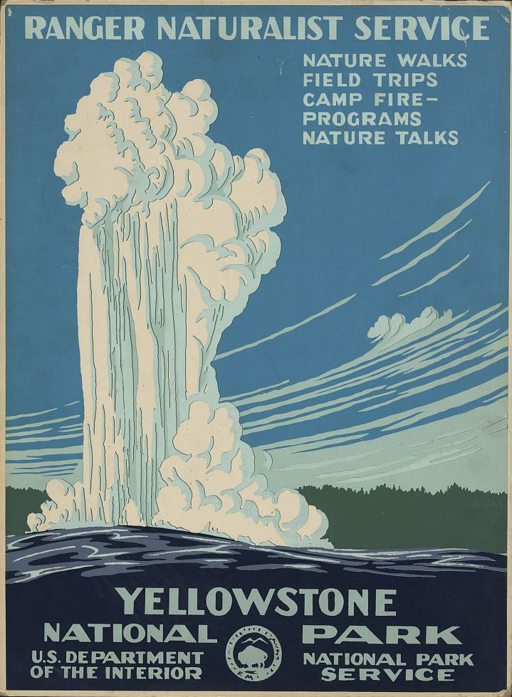 WPA Yellowstone National Park Poster - Image courtesy of  Library of Congress