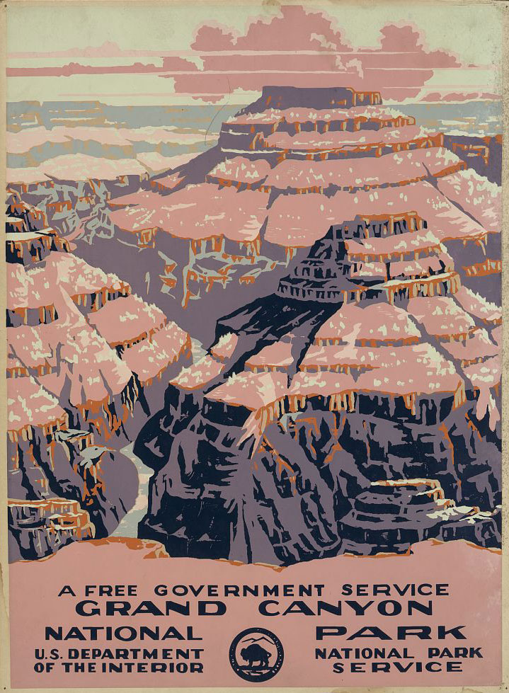 WPA Grand Canyon National Park Poster - Image courtesy of   Library of Congress