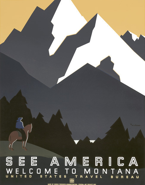 WP See America Poster Reproduction. Image courtesy of Vintagraph. Prints available at  Vintagraph .